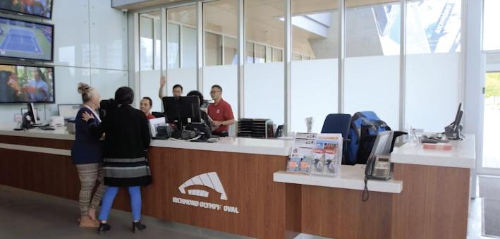 Richmond Olympic Oval Front Desk