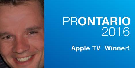 PROntario 2016 Apple TV Draw Winner
