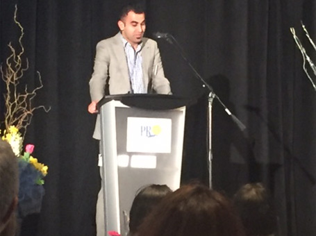 Vahid Speaking at PROntario 2016 Awards Ceremony