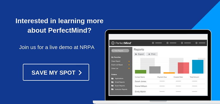 Learn more about PerfectMind at NRPA 2019