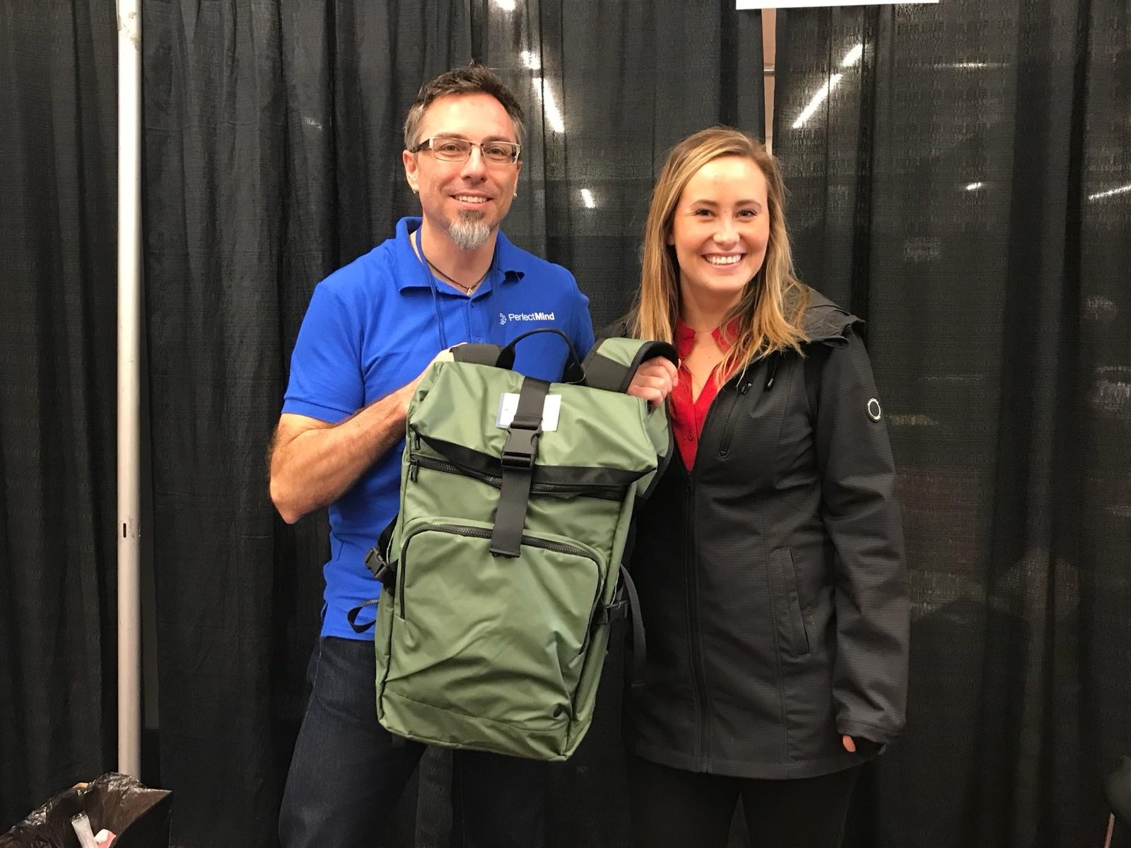 PerfectMind prize draw winner at club industry show 2018